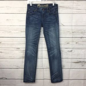 Madewell Rail Straight Wash jeans Size 28